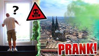GIFTGAS-Wolke über Köln PRANK!