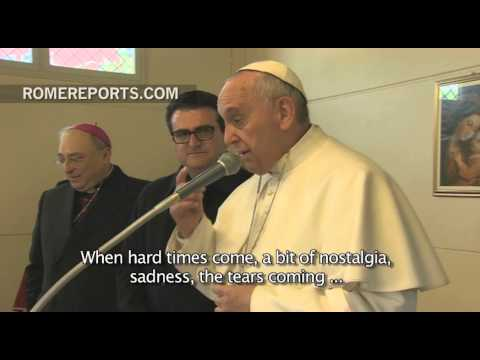 Pope Francis visits the sick and elderly at a Roman parish