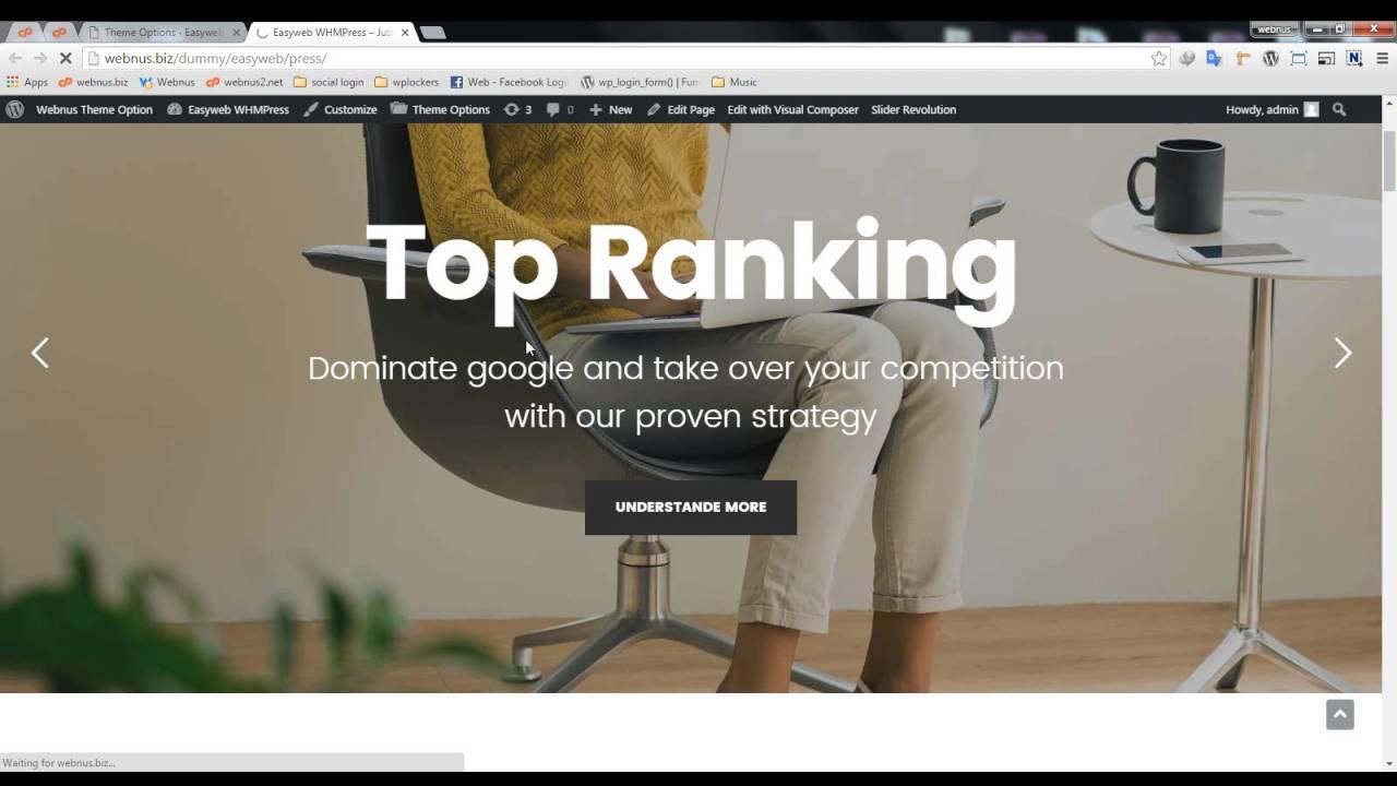 Demo Importer – Easyweb Documentation