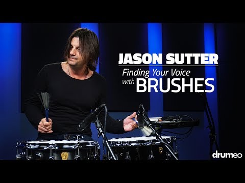 Jason Sutter: Finding Your Voice with Brushes - FULL DRUM LESSON (Drumeo)