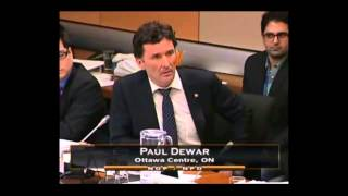 NDP Paul Dewar ask questions to the CEO of Canada Post