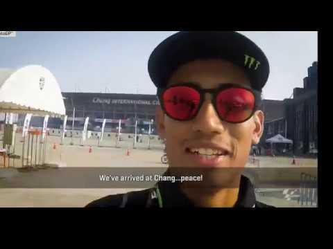 3 days summary motogp thai test 2018 buriram of hafizh syahrin & team yamaha tech 3
