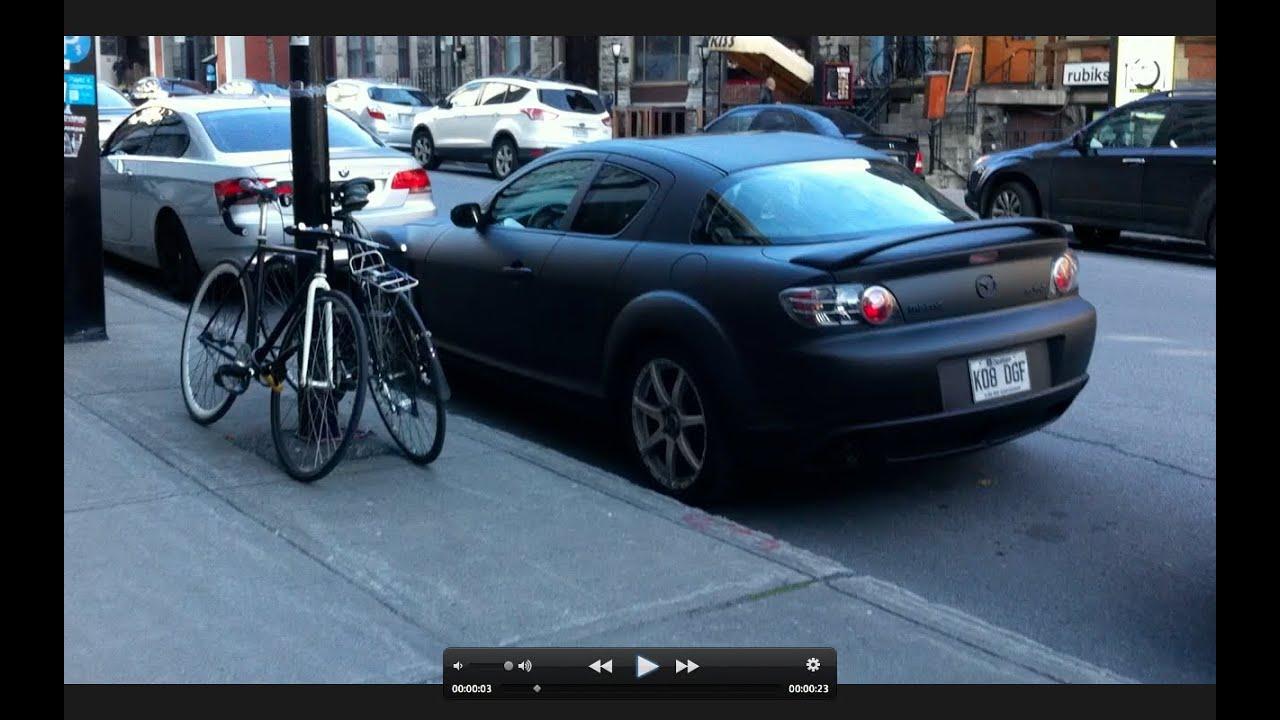 Matte Black Mazda Rx 8 In Montreal Youtube