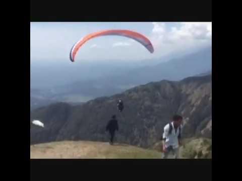 Smriti Irani Paragliding