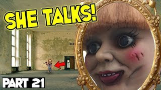 Evil Doll Annabelle mailed to us FREAKS US OUT and haunts us like a SCARY CLOWN - Part 21