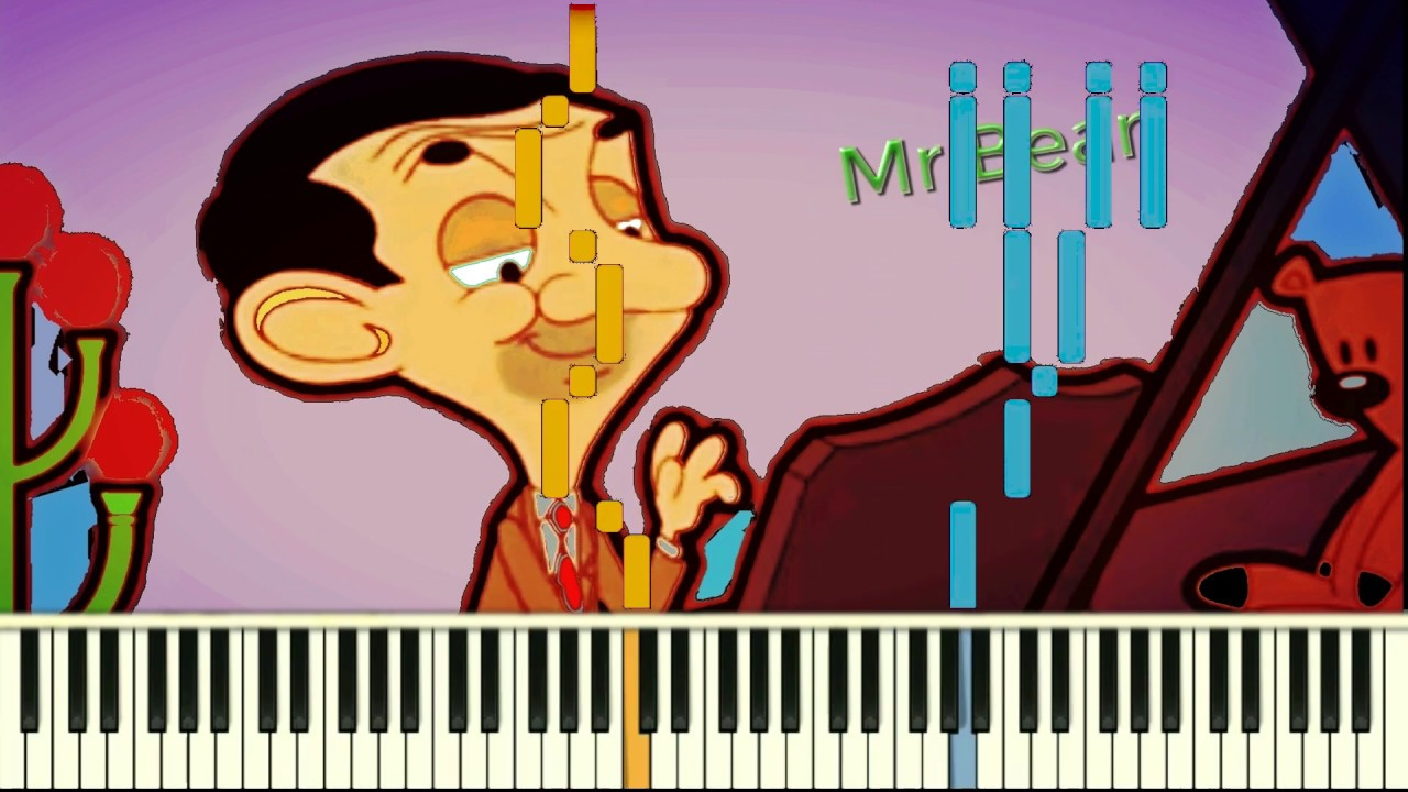 How to play Mr.Bean Animated Series Theme Song - Piano Tutorial (كيف تعزف أغنية مستر بين (كرتون