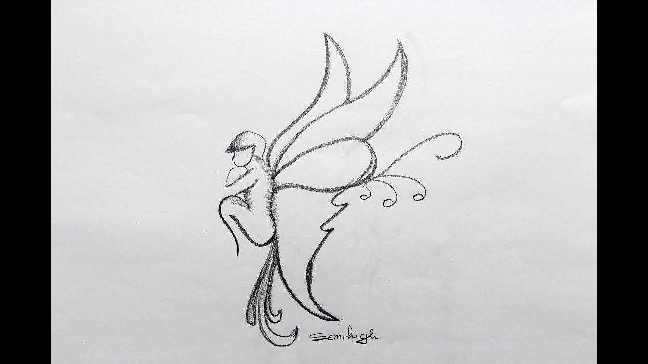 How To Draw Butterfly Step By Step Pencil Sketch Youtube