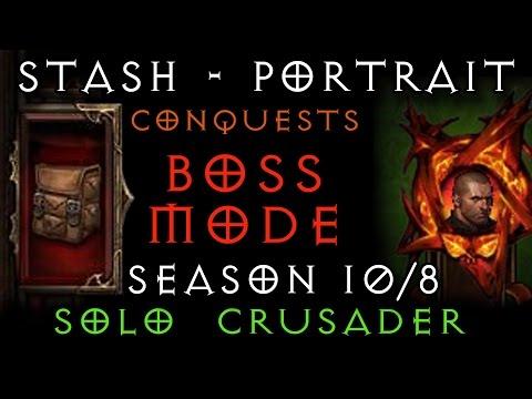 Stash Tab - Portrait Frame - Boss Mode - Crusader - S 11 / 8 - Diablo 3 RoS - Gaming with Baromir