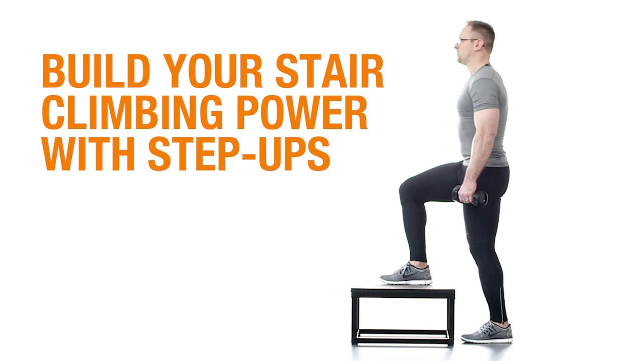 Stair exercises at home