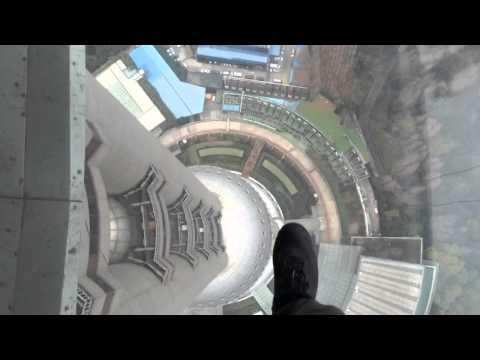 360 degree walk of Oriental Pearl TV Tower in Shanghai