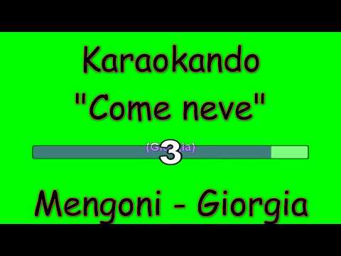 Karaoke Italiano - Come Neve - Marco Mengoni - Giorgia ( Testo )