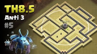Clash of Clans ⚫ TH8.5 Anti 3 Star War Base #5 ⚫ No CC Lure ⚫ Full Walls, AQ, All Storages  & Traps