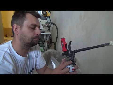 Чистая смена монтажной пены на пистолете