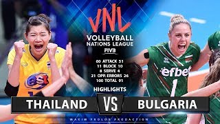Thailand vs Bulgaria  | Highlights | Women's VNL 2019