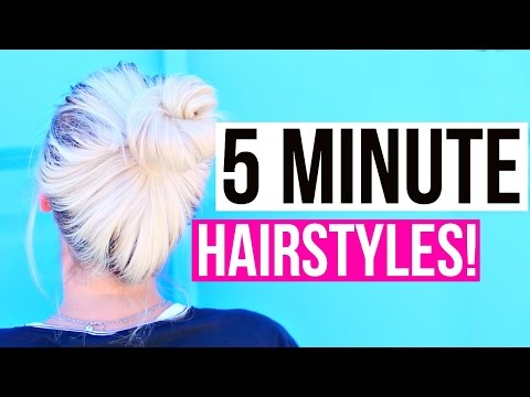 Easy 5 Minute Hairstyles For Back To School!   Aspyn Ovard