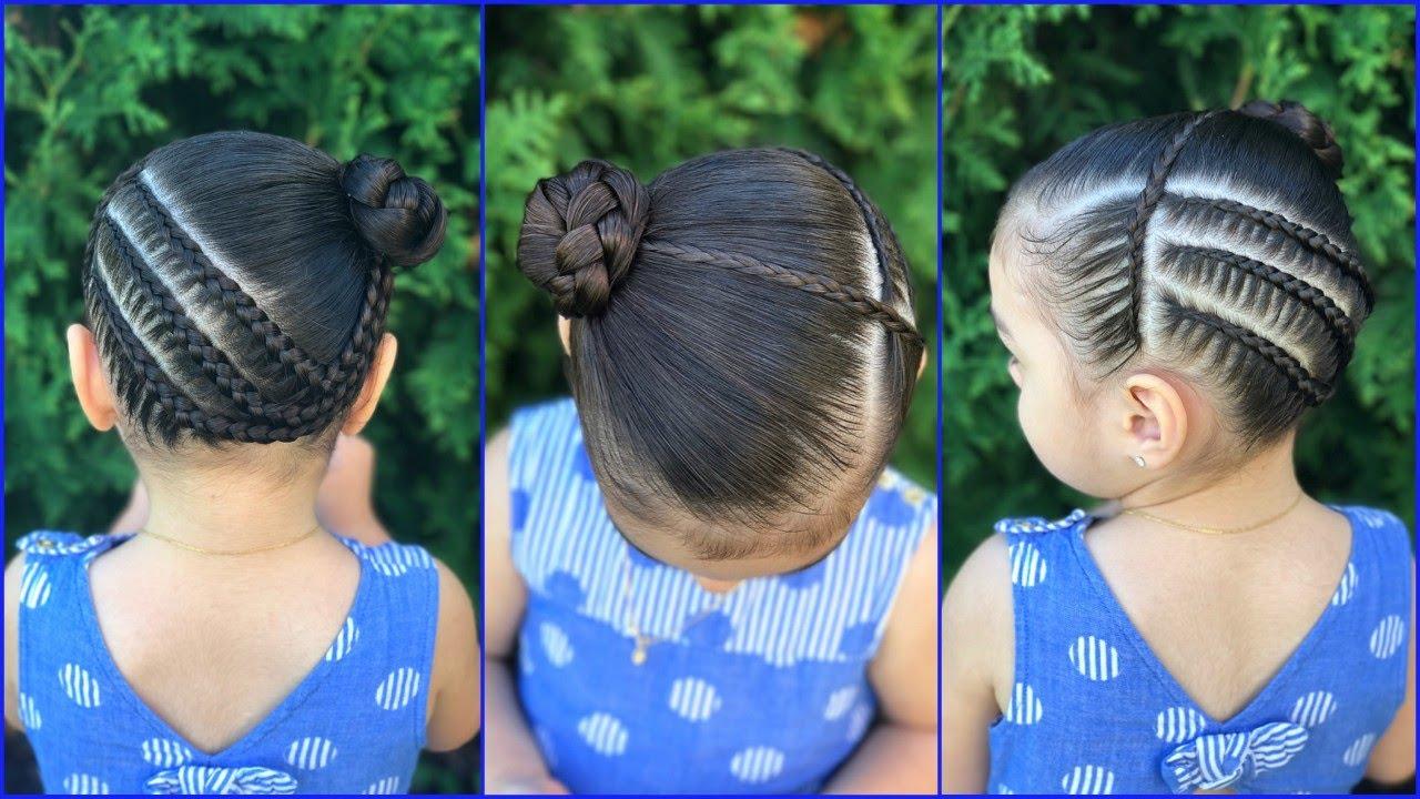 Peinados para ni as con trenzas de lado y coleta peinados - Trenzas para nina faciles ...