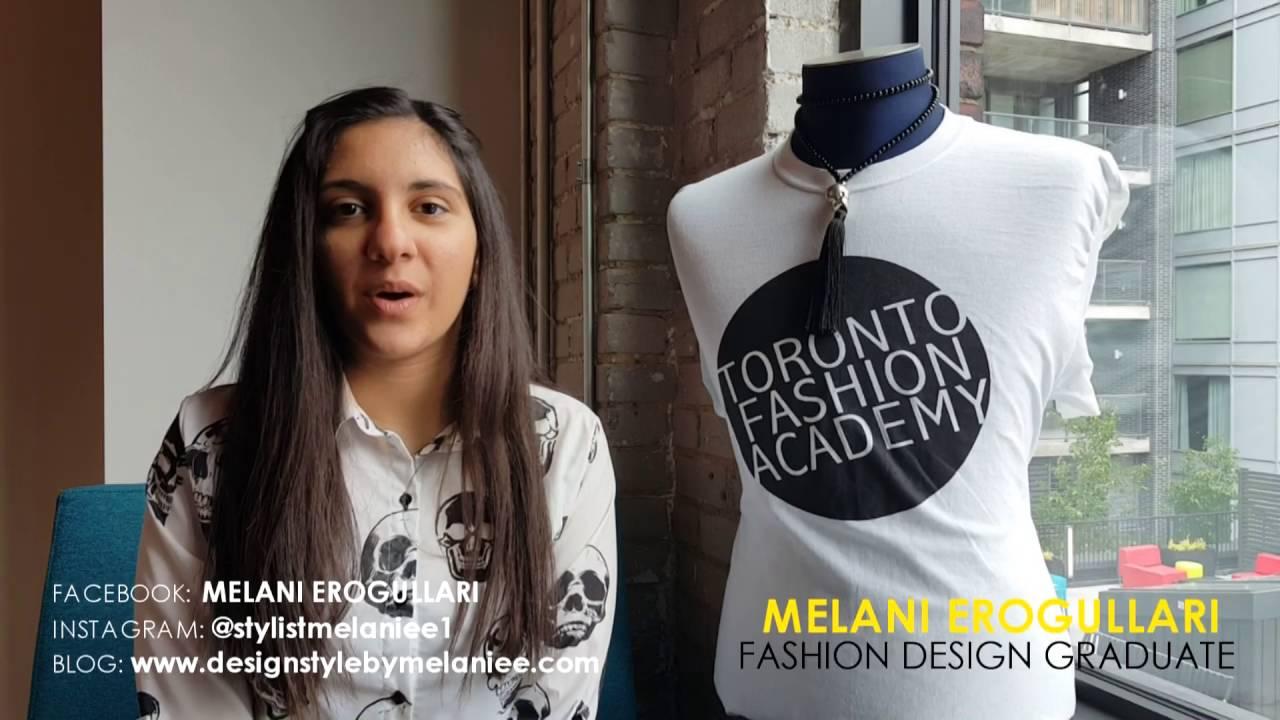 Melani Erogullari Fashion Design Graduate Testimonial Youtube