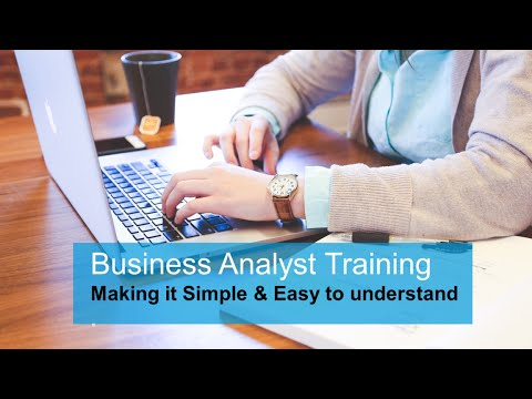 Business Analyst training: Basic training part I