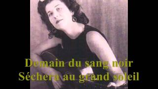 Anna Marly - LE CHANT DES PARTISANS