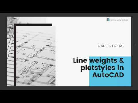 AutoCAD Lineweights And Plotstyles