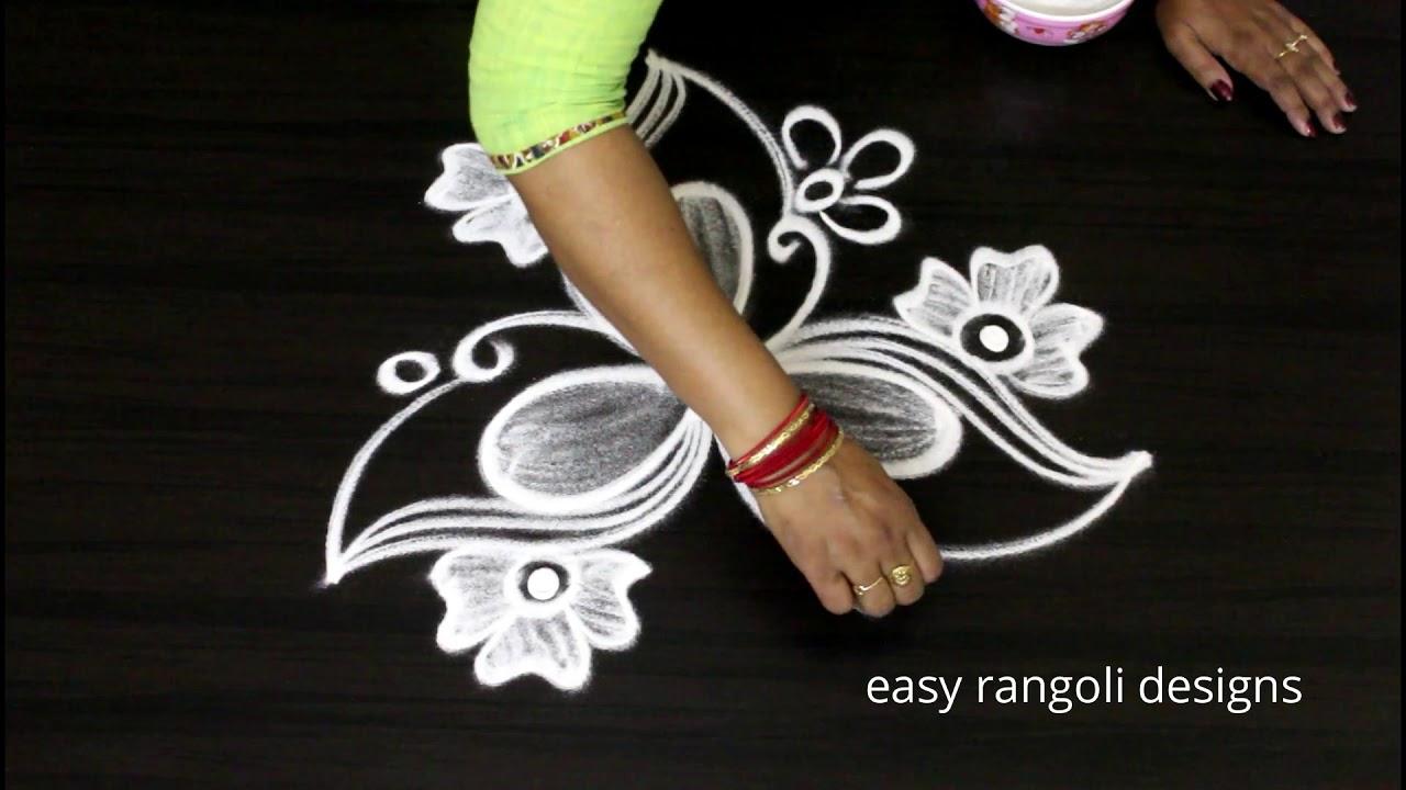 Free Hand Art Rangoli Diwali