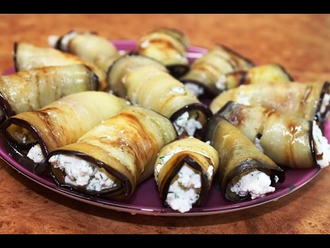 Рецепт: Рулеты из баклажанов (закуска) =)