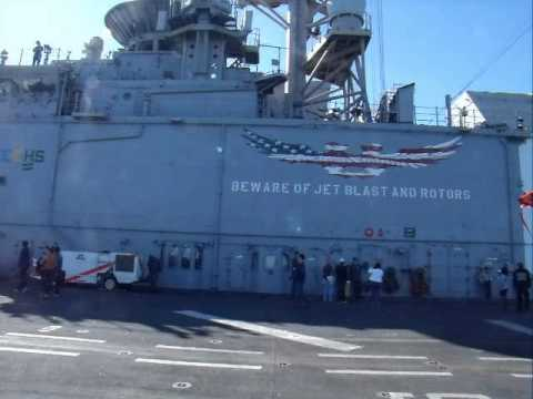 Aboard the USS Makin Island (LHD-8)