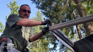 Torn RV Awning With A Failed Motor Gets Removed And Replaced