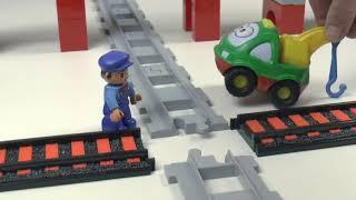 Поезда мультики: Перекресток. Мультики для детей про Машинки игрушки Лего и Паровозики.