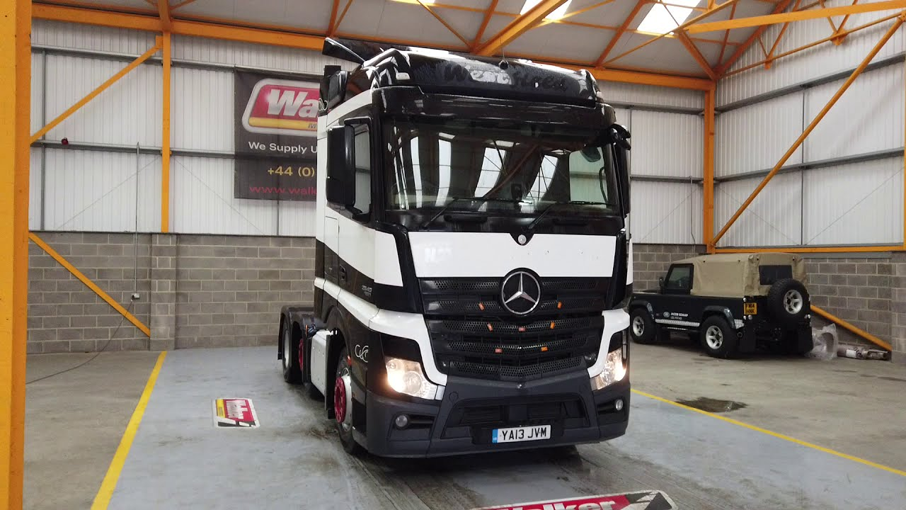 New In Stocklist For Sale: MERCEDES ACTROS 2545 BIGSPACE EURO 5, 6X2 TRACTOR UNIT – 2013 – YA13 JVM