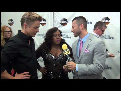 Dancing with the Stars - Amber Riley & Derek Hough AfterBuzz TV Interview November 4th, 2013