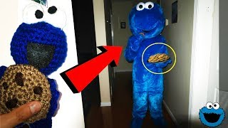 DONT MAKE A COOKIE MONSTER VOODOO DOLL AT 3AM | SUMMONING COOKIE MONSTER AT 3AM! (ACTUALLY WORKED!)