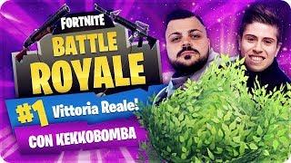 VITTORIA REALE WITH 0 KILL CAMPERANDO TUTTA LA PARTITA WITH KEKKOBOMBA ! Fortnite Battle Royale