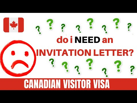 INVITATION LETTER - CANADIAN VISITORS VISA