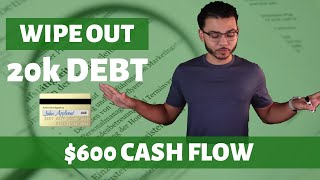 Wiping Out $20k Debt With $600 Cash Flow