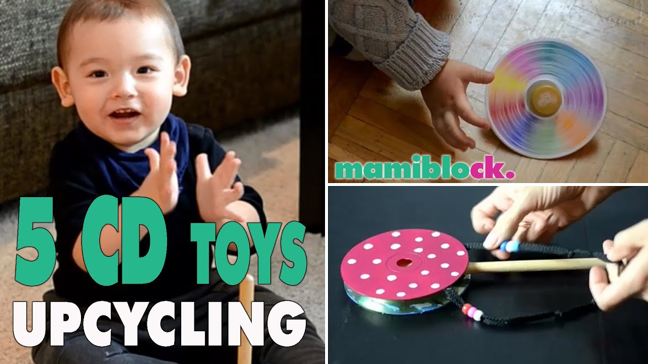 5 Spielzeuge aus alten CDs  Upcycling  DIY  Toys ...