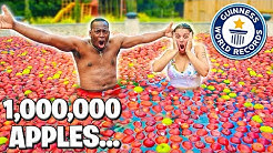 FILLING OUR SWIMMING POOL WITH 1,000,000 APPLES!!