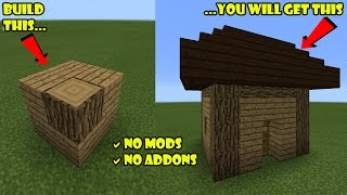 SPAWNABLE HOUSE !!! Spawn a House Using Few Blocks | Minecraft PE Command Blocks Trick thumbnail