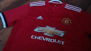 GOGOALSHOP MANCHESTER UNITED HOME JERSEY 2017/18 UNBOXING