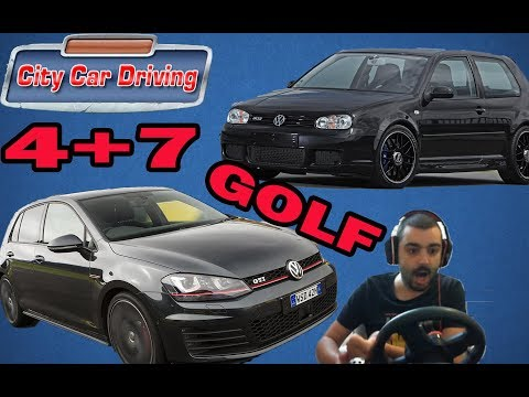 Golf4 vs Golf7 City Car Driving #17