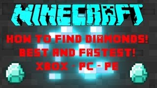minecraft how to find diamonds gold and iron fast and easy xbox pc pe