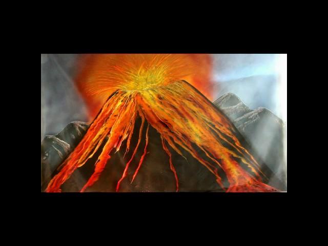 Vulkanausbruch in Werkstatt