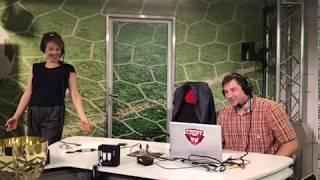 Шпагат от посла ЧМ-2018 Яны Чуриковой в студии Спорт FM