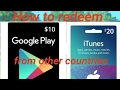 How to redeem iTunes Gift Card from other countries? | MUST KNOW
