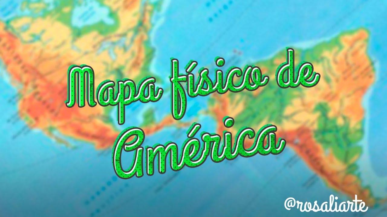 03ec31540a Mapa físico de América - 1º ESO - YouTube