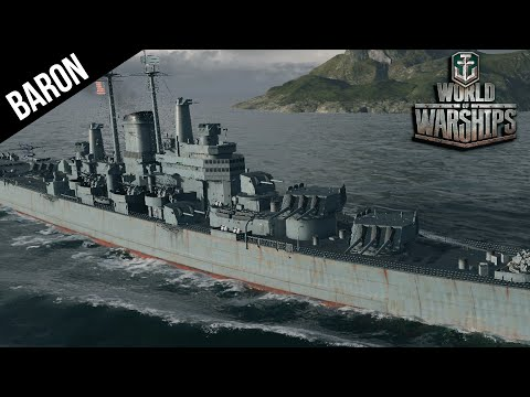 World of Warships Tier 10 Cruiser Gameplay - Des Moines!