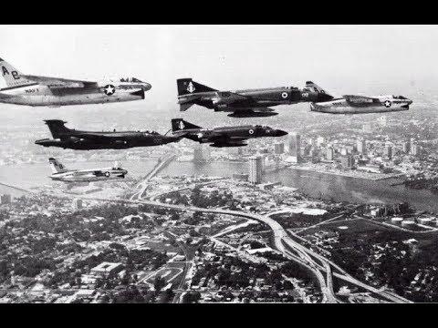 1976 United States Navy jets land & take off British carrier