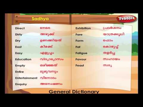 Learn Malayalam Through English | Lesson - 06 | General Dict
