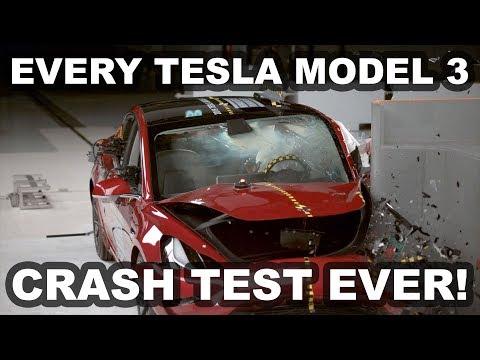 Every Tesla Model 3 Crash Test Ever! (NHTSA, Euro NCAP, IIHS)