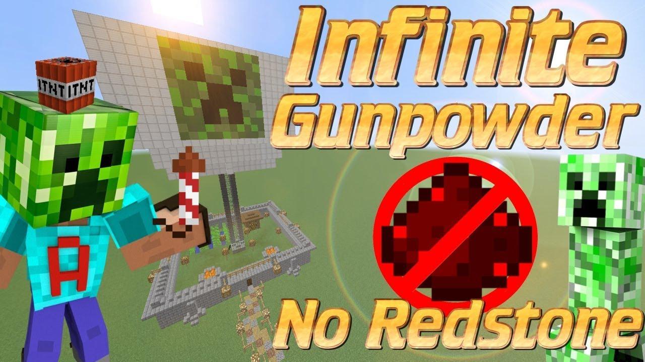 minecraft how to make gunpowfer